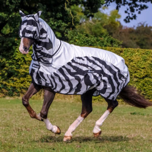 Bucas Buzz Off Rain Zebra Fly Rug