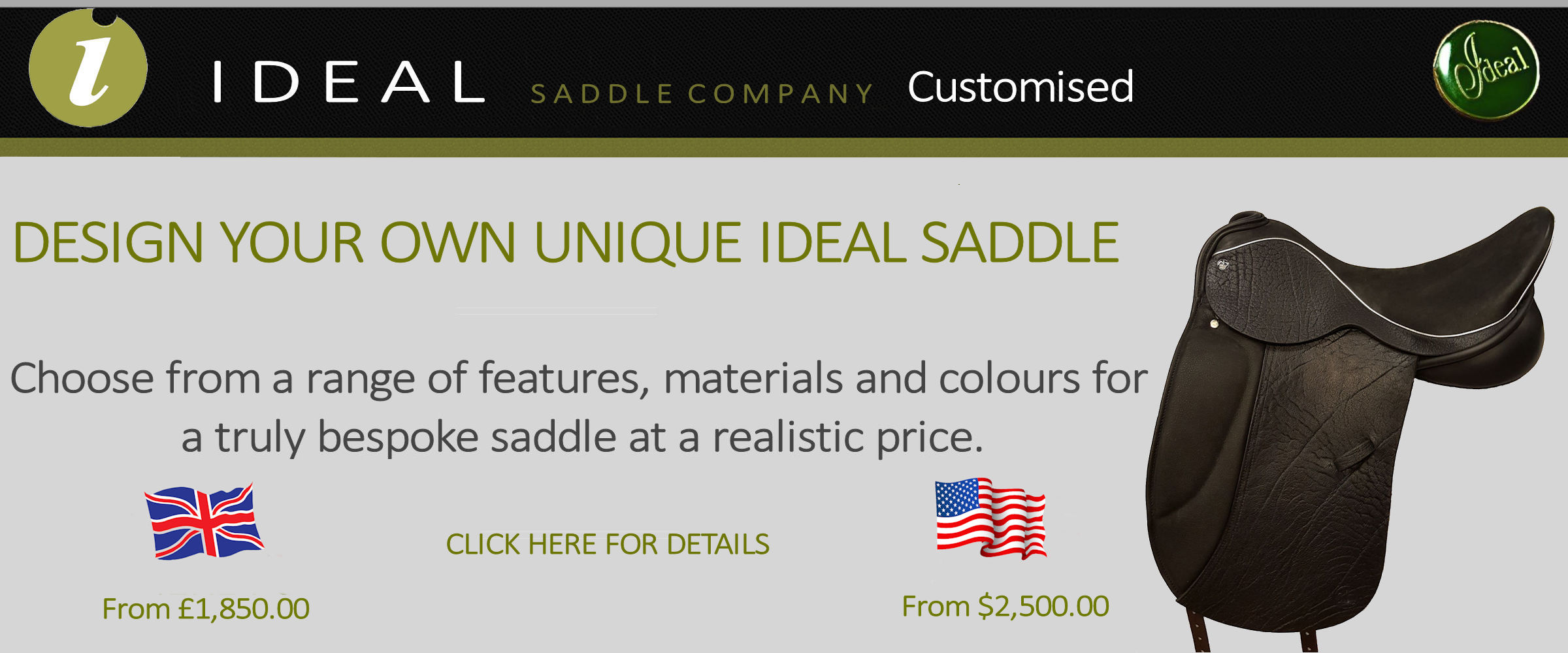 ideal customised saddles